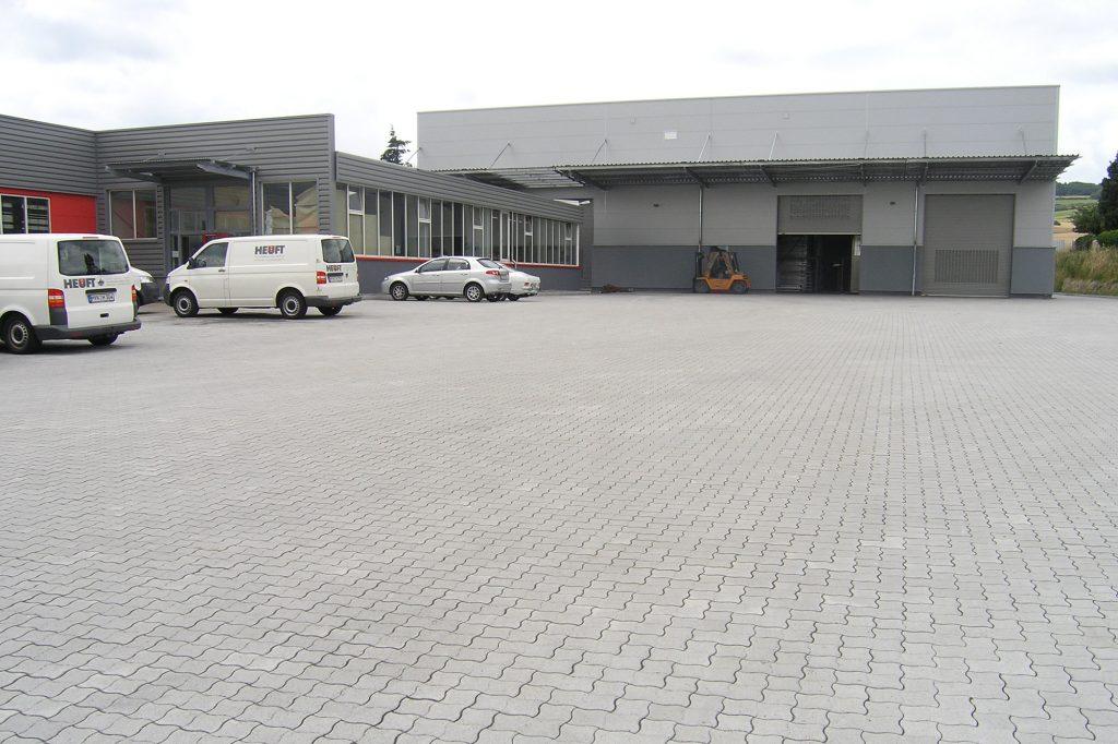 Pflastersteine für einen Industriehof