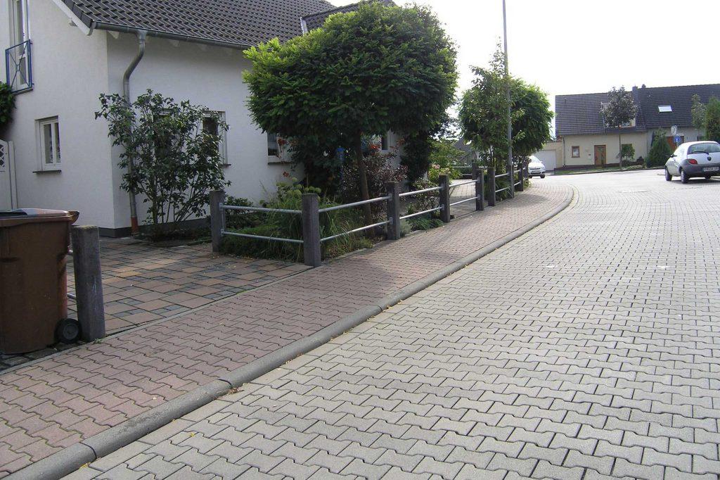 Doppel-T Pflastersteine als Straße
