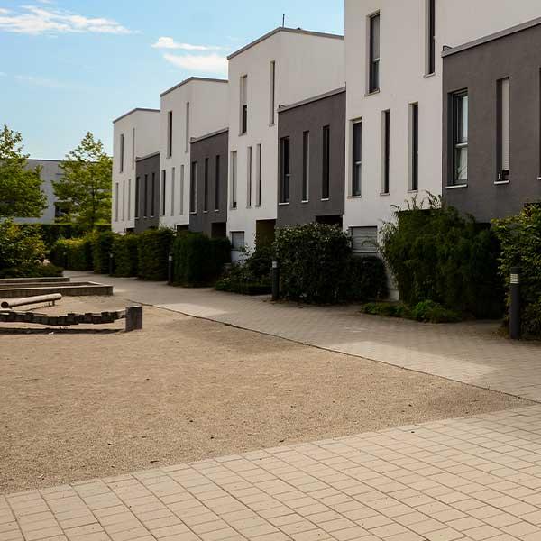 Öko ProDrain Pflastersteine in der Wohnsiedlung