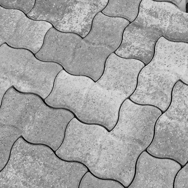 PWL Pflastersteine als Detailaufnahme