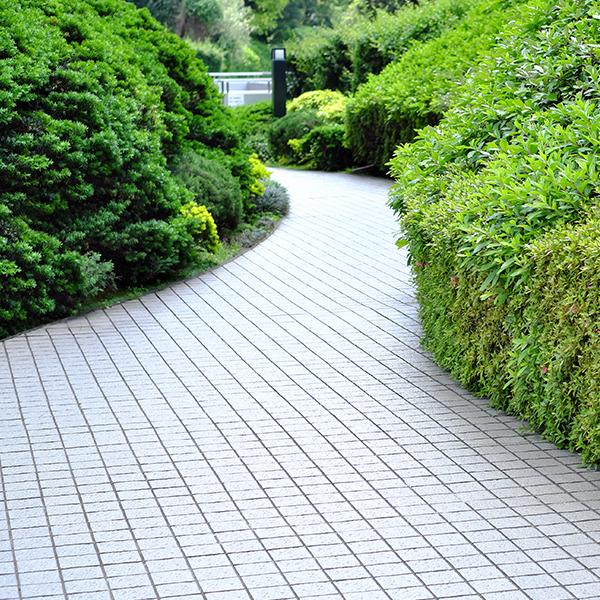 Quadrato Pflastersteine als Weg im Park