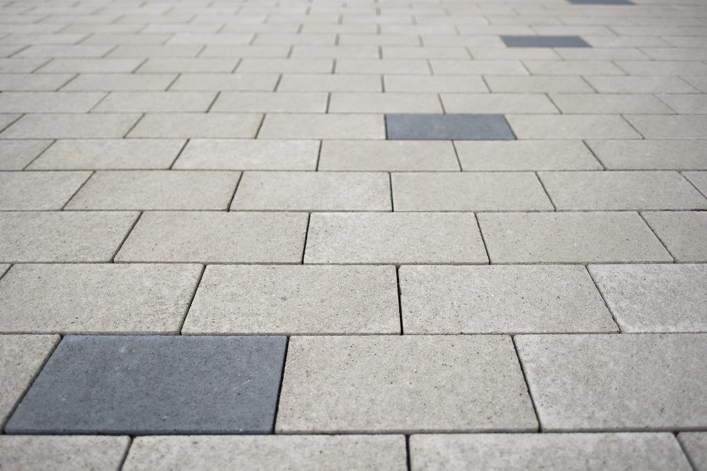 Quadrato Pflastersteine als Detailaufnahme
