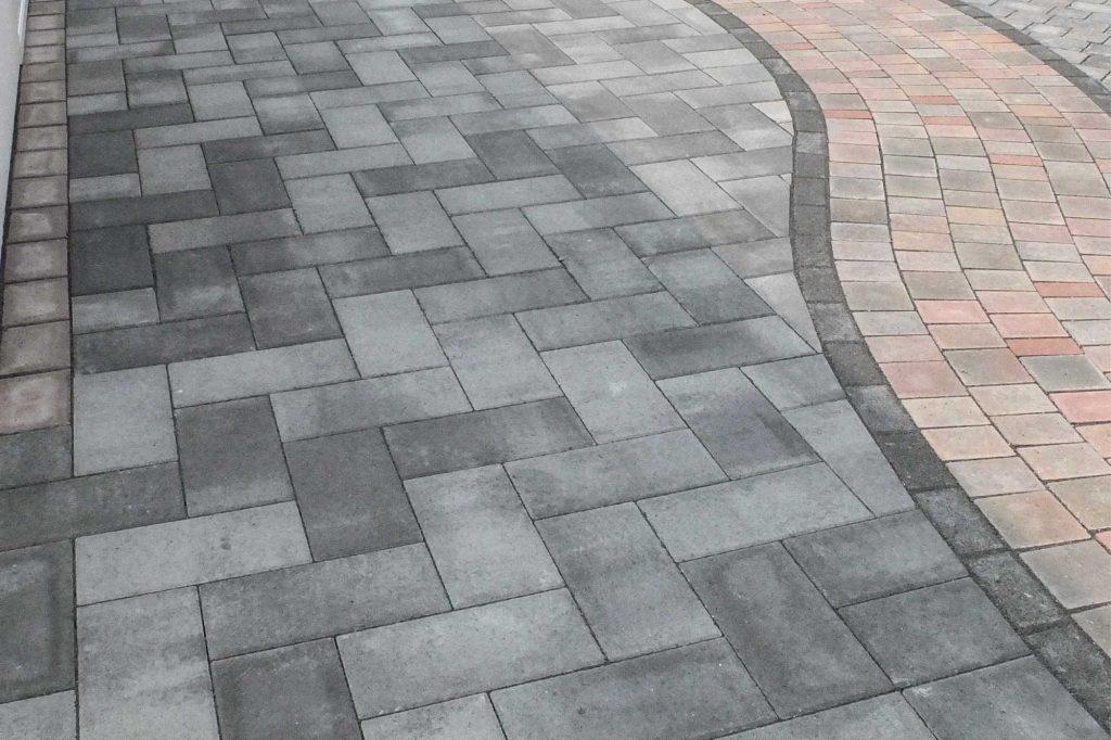 Zenit Pflaster Platten verlegt als Muster