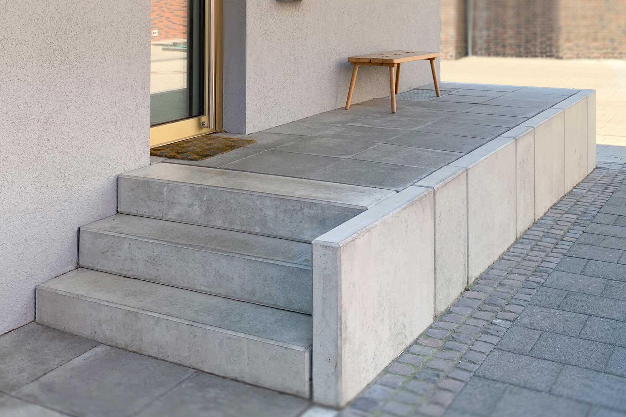 Stützwinkel auch genannt L-Steine Winkelsteine am Projekt Wohnraum
