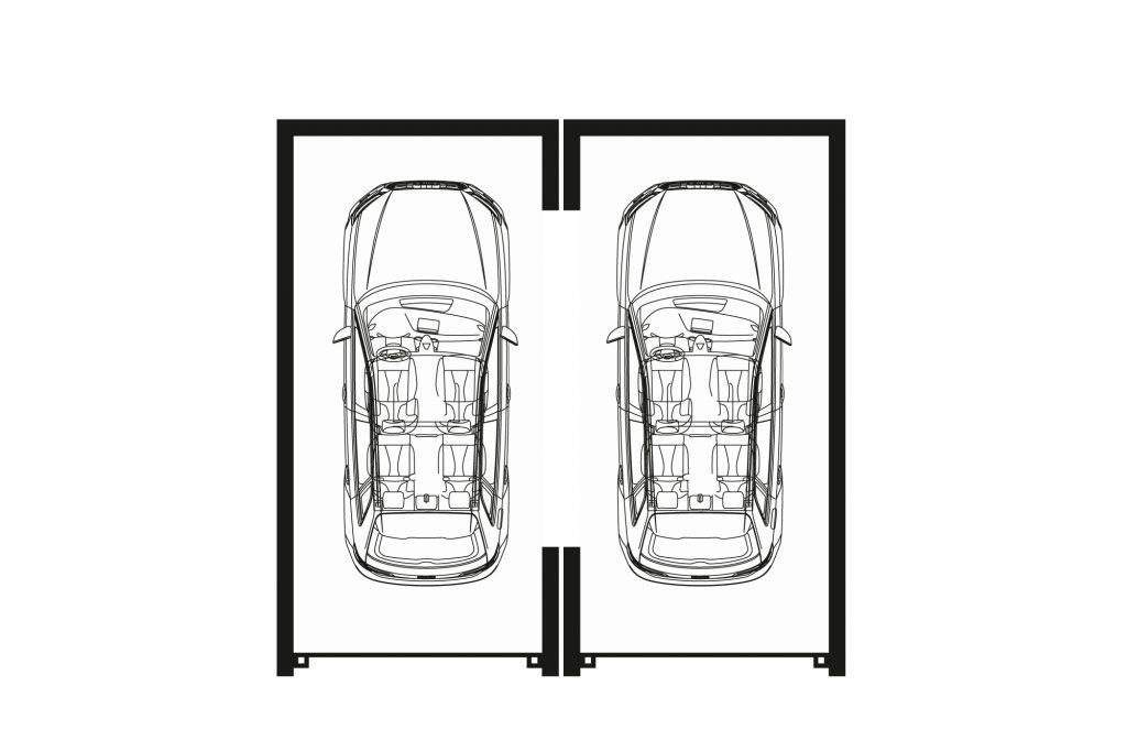 Garagen Doppelgaragen Technische Zeichnung