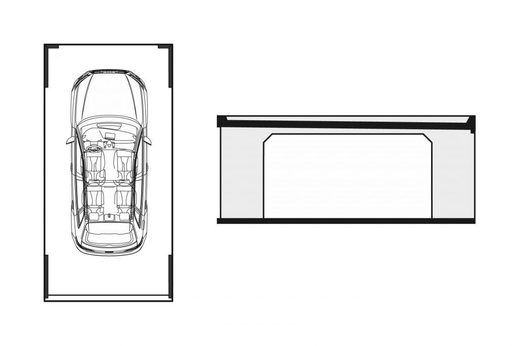 Garage Technische Zeichnung